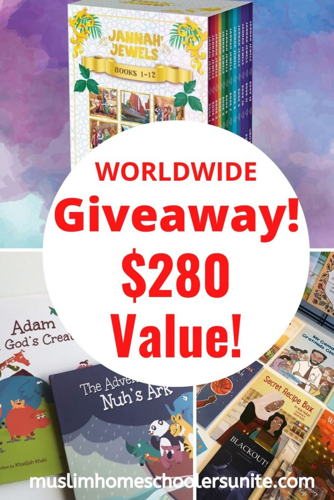 This giveaway is all about the books!  Win a bucket load of Islamic books for your family today!