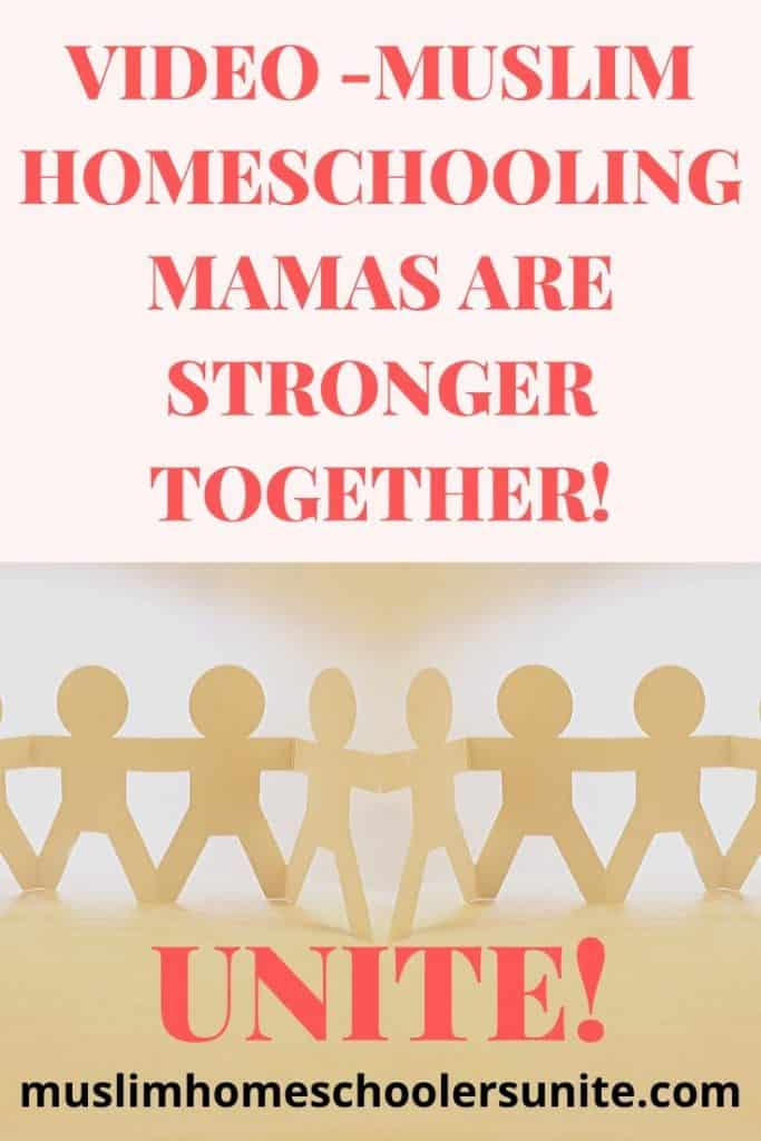 Muslim homeschooling mamas are stronger together!