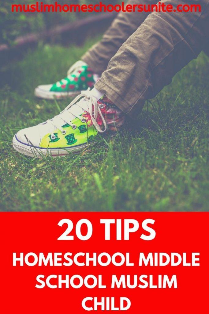 Twenty tips on homeschooling a middle school Muslim child.