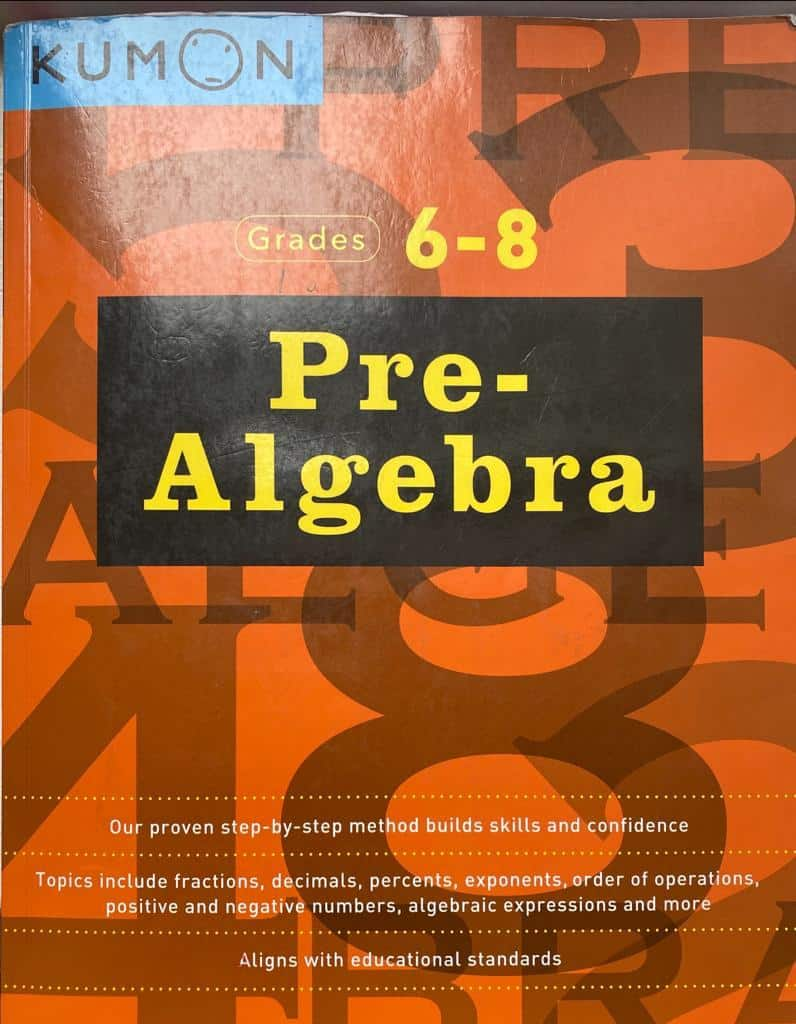 Muslim homeschoolers can use Kumon Pre-Algebra textbooks to homeschool their middle school child.