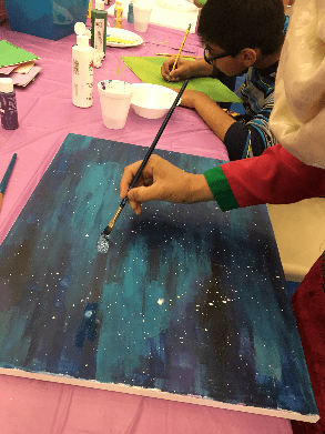 Do art with your Muslim homeschooled middle school child.