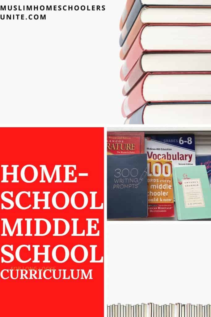 Muslim homeschooling middle school curriculum and resources.