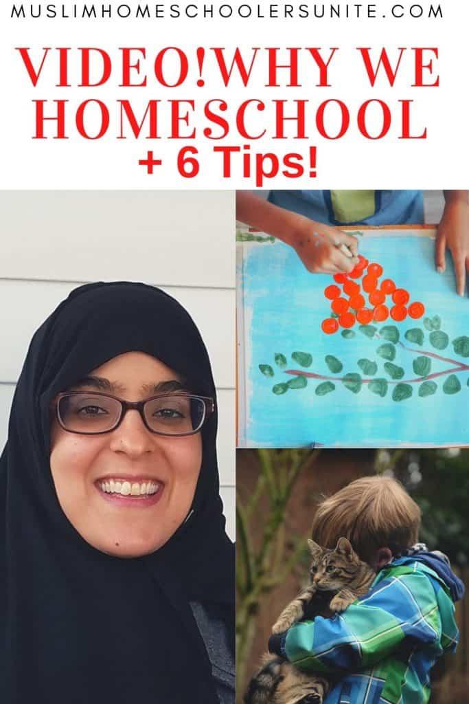 Why Eaman Elhadri homeschools her Muslim children, plus six tips!