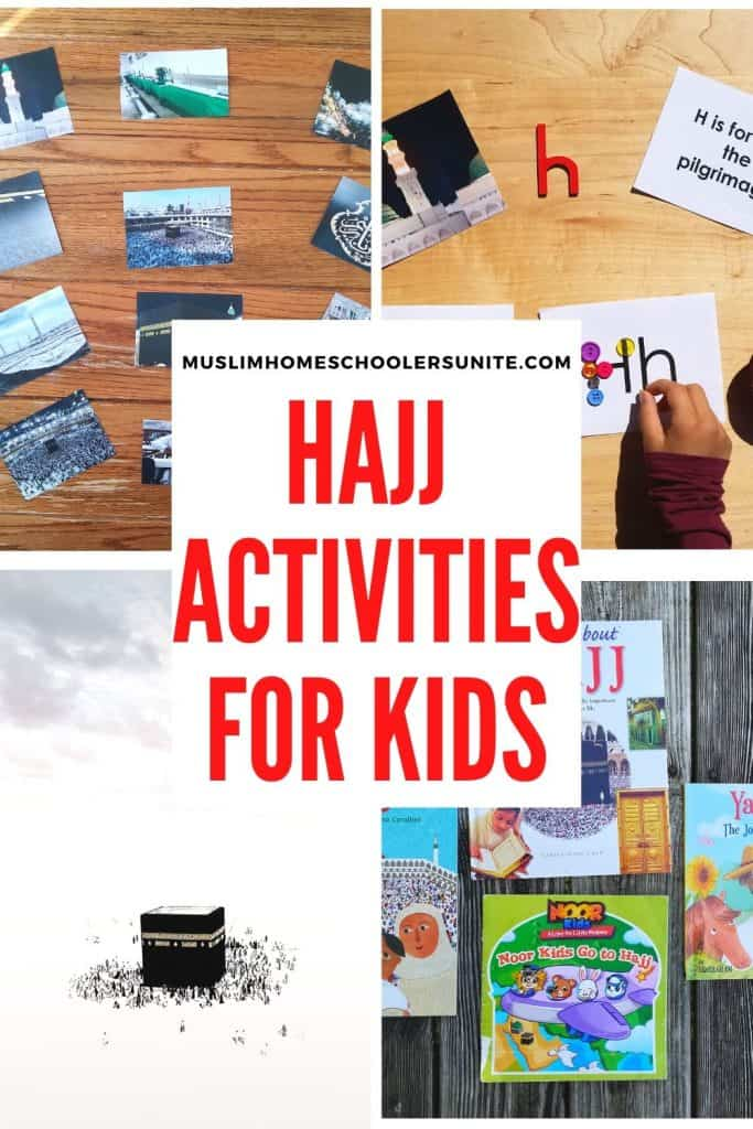 Hajj activities for Muslim kids.