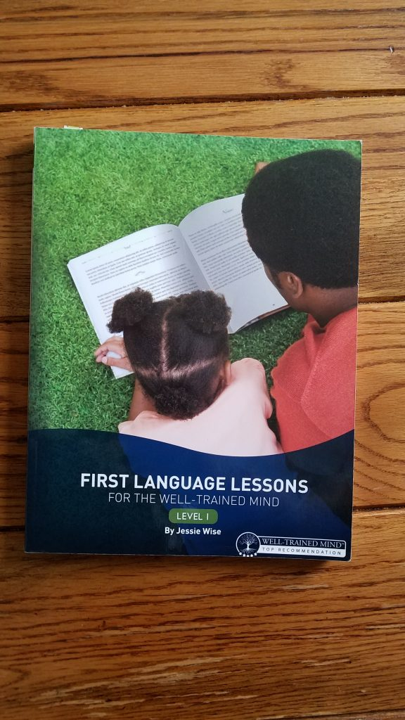 Muslim homeschool parents can purchase First Language Lessons for the Well Trained Mind by Jessie Wise.
