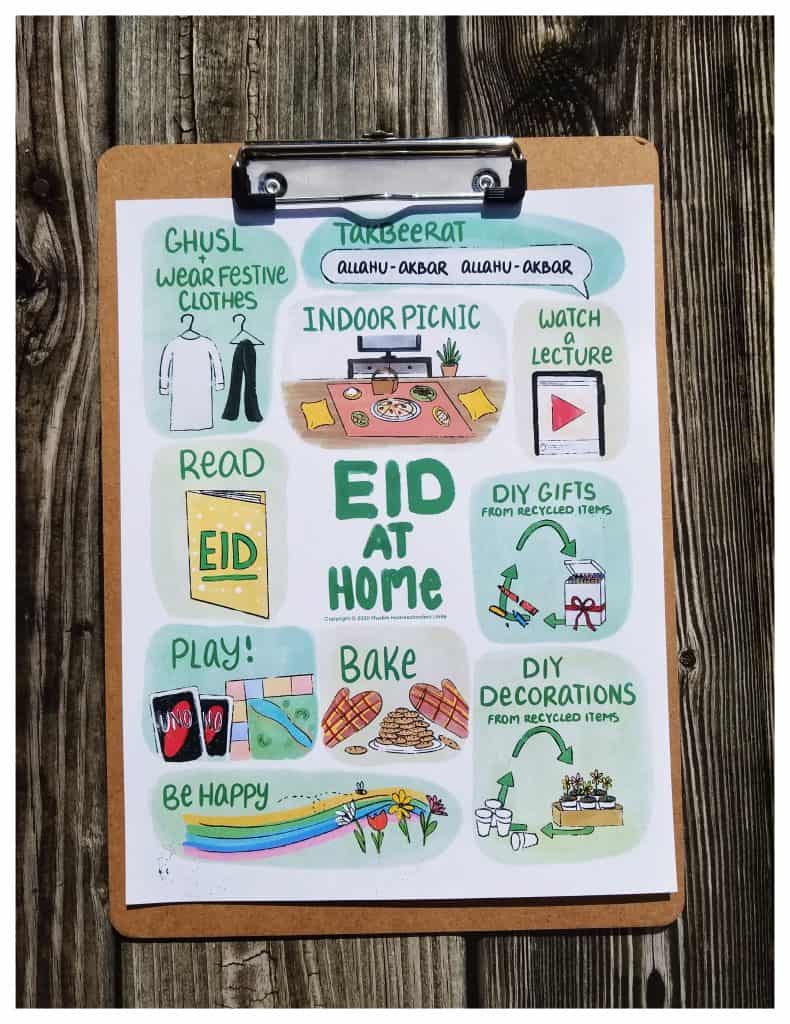 Eid at Home guide for Muslim families who are home for Eid, due to the pandemic.