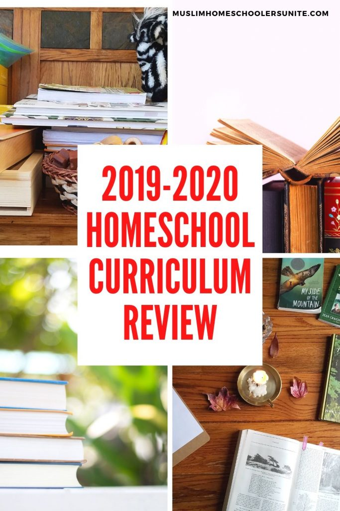 2019-2020 Muslim homeschool curriculum review of math, English, science and social studies.