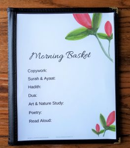 Muslim Morning Basket Weekly Planning Page will help Muslim homeschooling mothers stay on track during their morning routine.