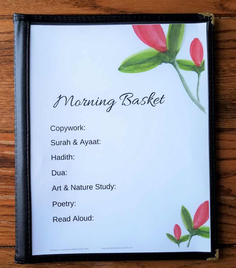 Morning Time Menus are Morning Time resources for your Muslim homeschool.  Print and go.