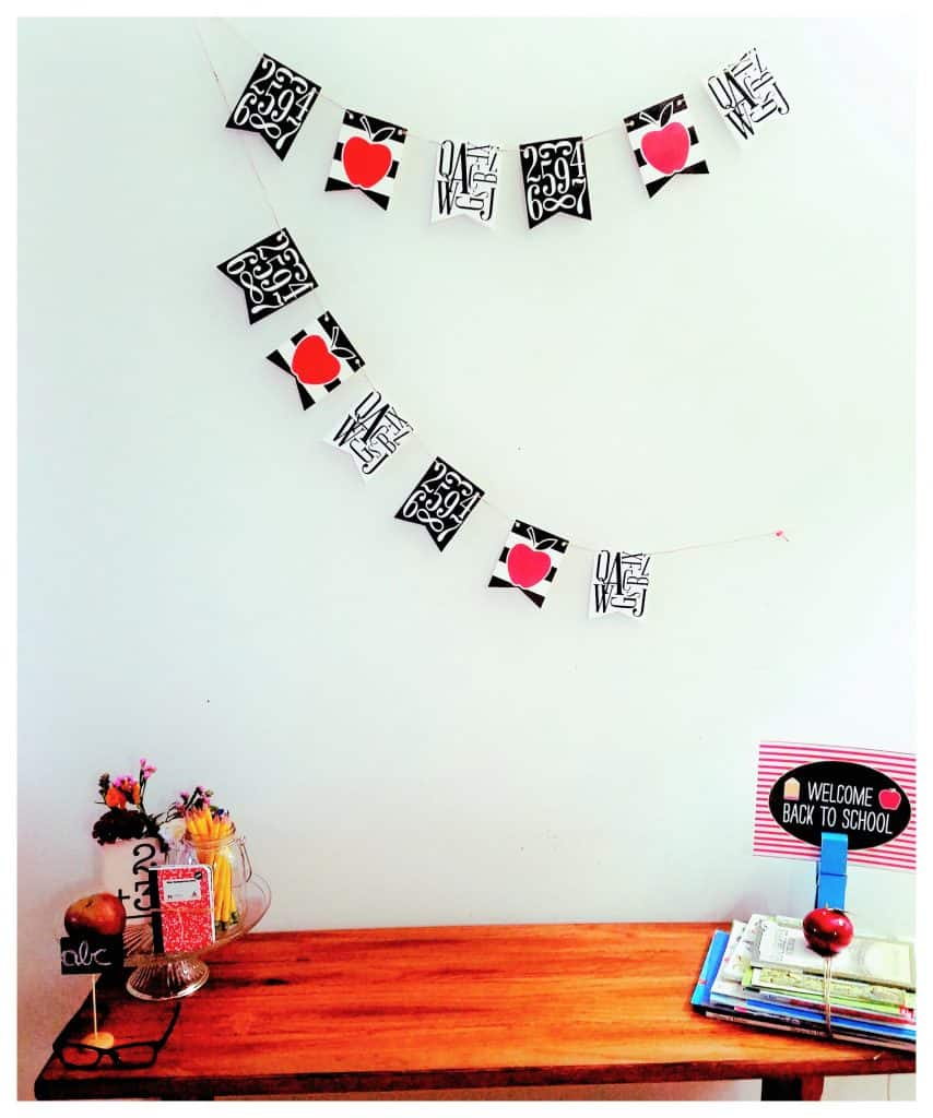 Our vintage style back to school decor.