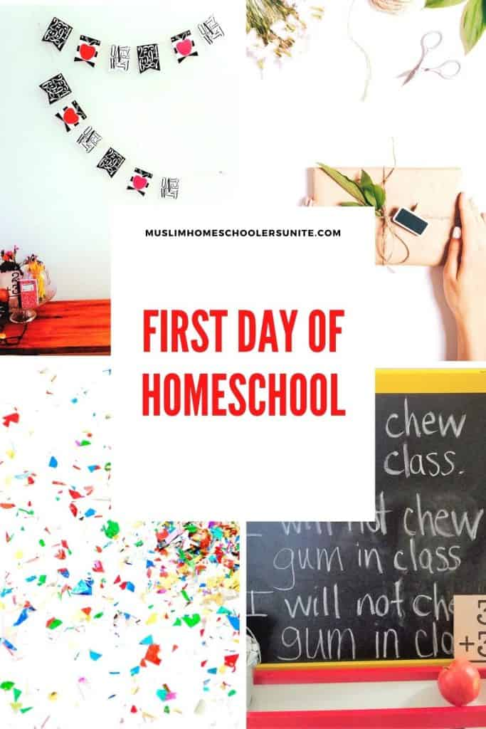 The first day of Muslim homeschooling should be fun!