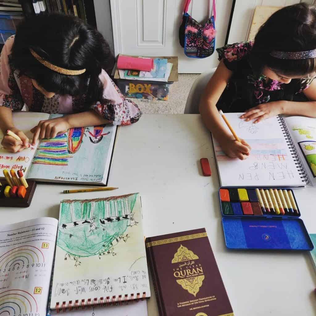 Muslim homeschooling mother Teacher Mabid.
