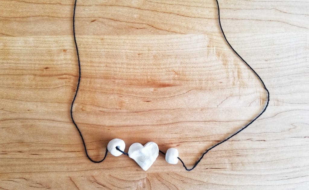 Clay bead necklaces are a great handicraft for your homeschool.