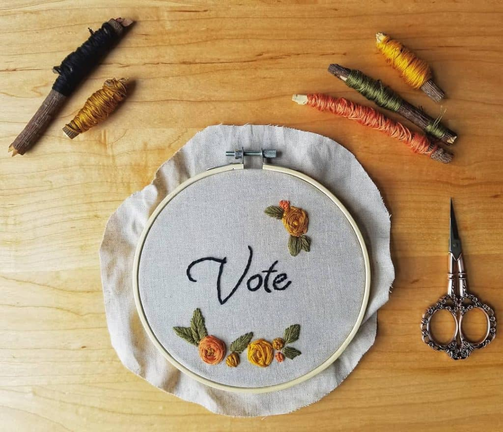 Embroidery is a perfect craft for your Muslim homeschool.