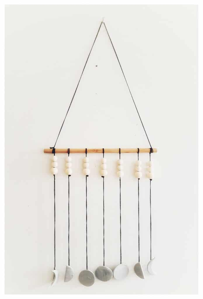 Moon phase wall hangings are perfect crafts for Ramadan in your Muslim home.