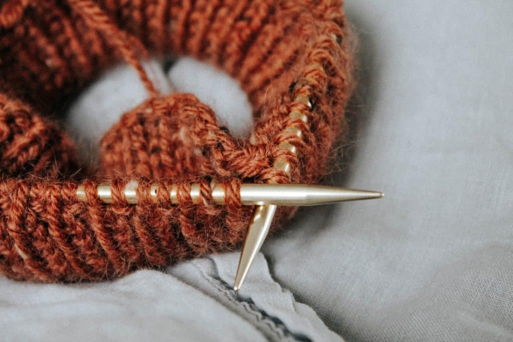 Knitting is a great craft for your Muslim homeschool.