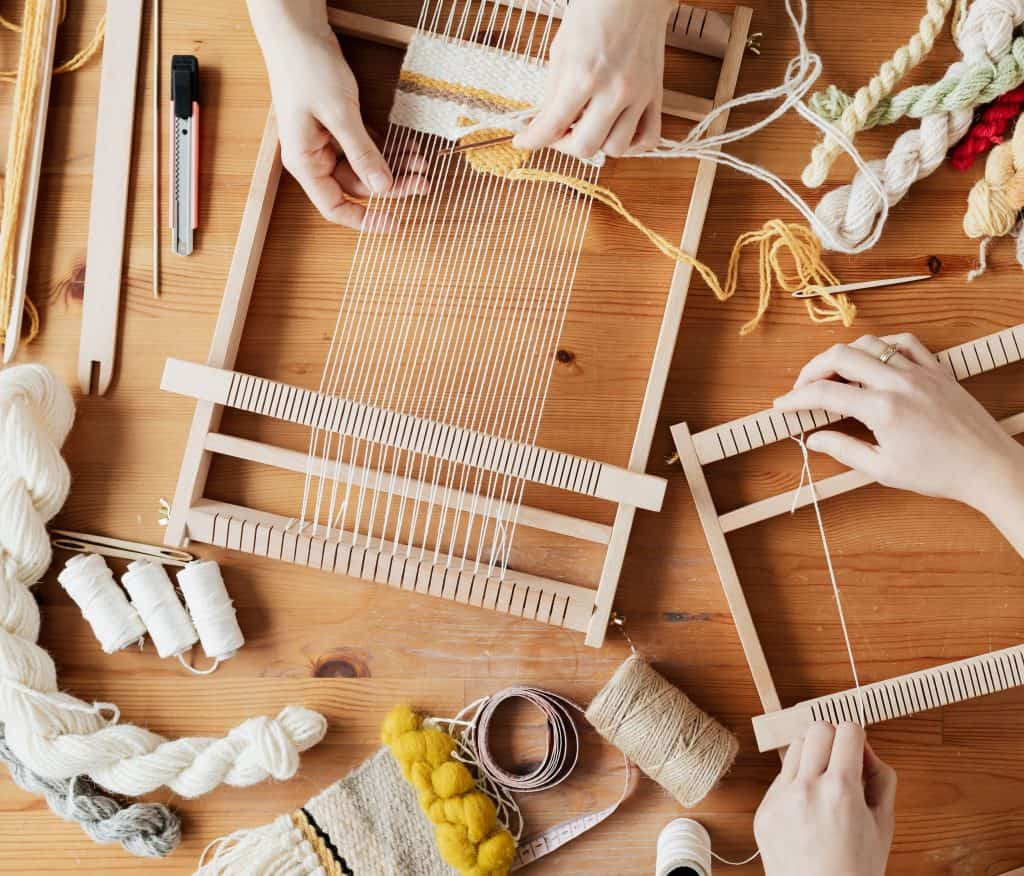 Weaving is an awesome craft idea for your homeschool.