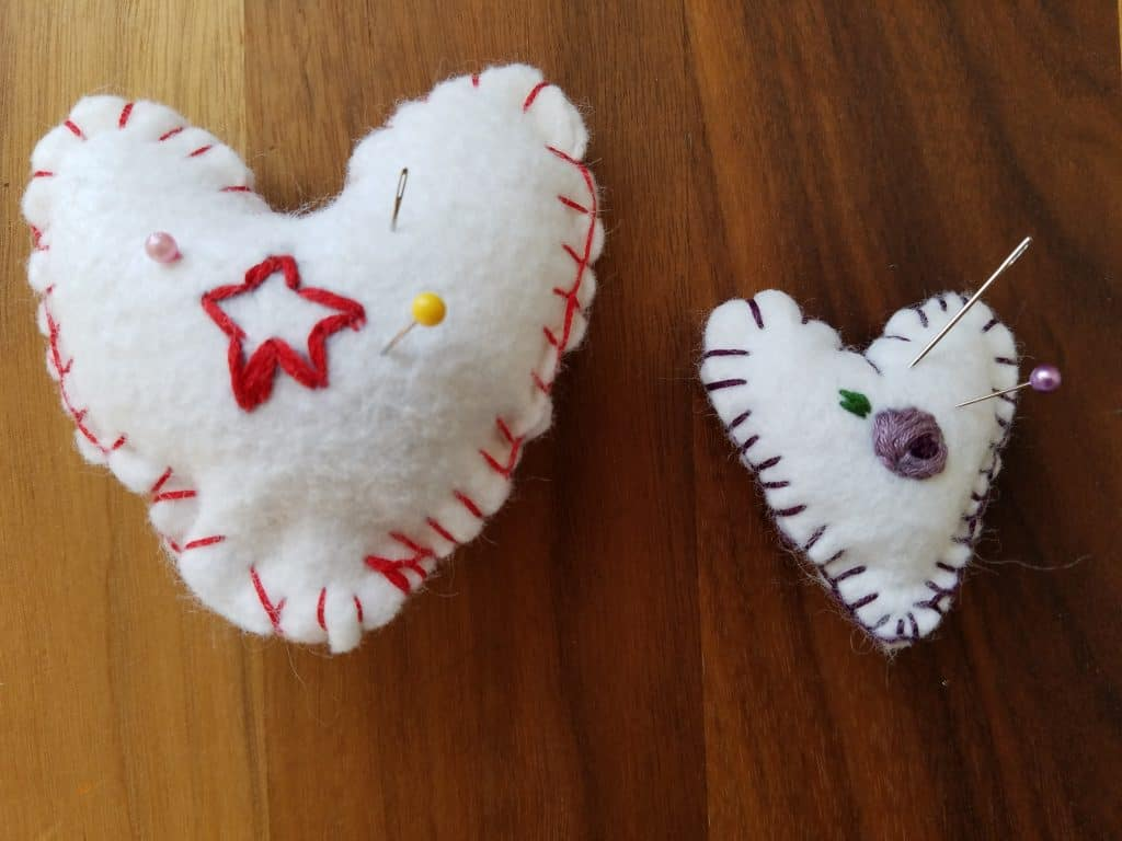 Hand stitching is a great handicraft for your Muslim homeschool child.