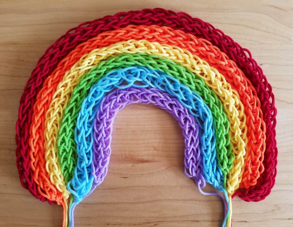 Finger knitting is perfect for Muslim homeschooled kids!