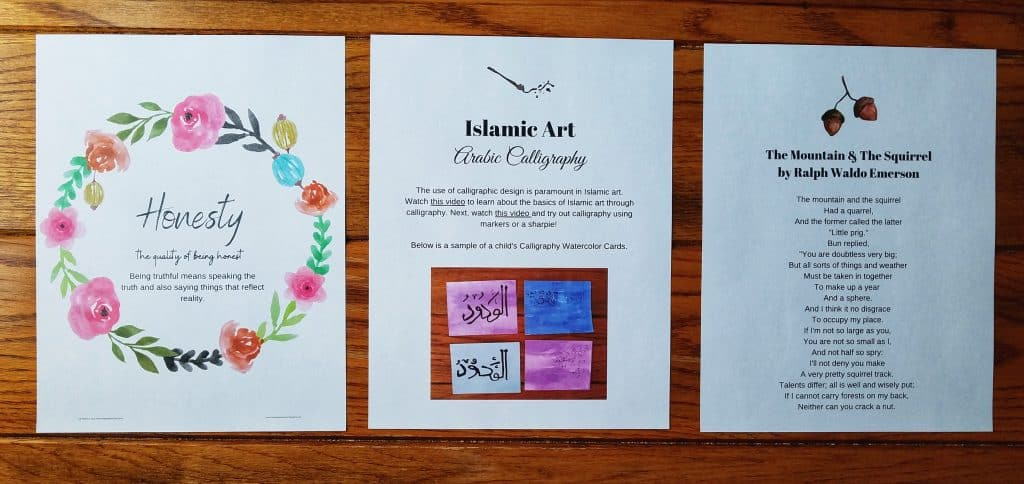 Hijri Calendar created by Lauren from Chickie and Roo is helpful for Muslim homeschooling families to teach their child about Islamic months of the year.