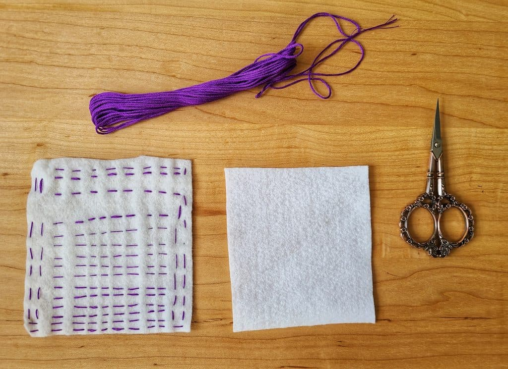 Slow stitching is a great homeschooling activity that will help your Muslim child slow down, relax, and enjoy.