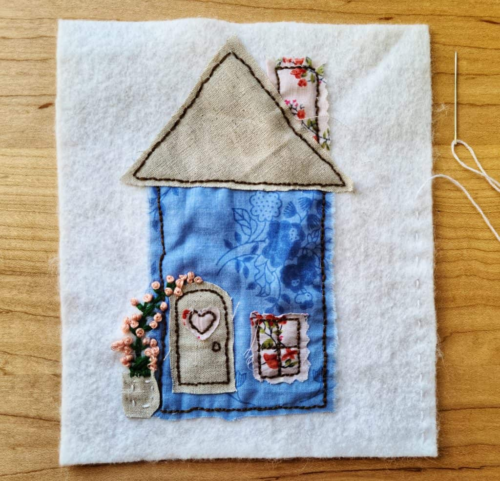 The ritual of tea and slow stitching can create calm and slow in the everyday for Muslim homeschool moms.