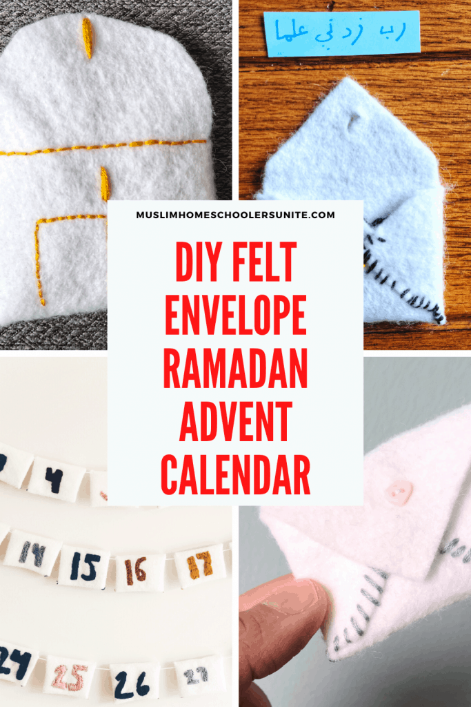 Raman DIY Advent calendar for Muslim homeschooling families.