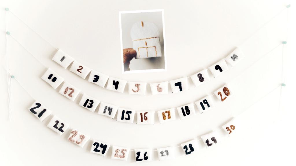 Ramadan DIY Advent mini felt envelope calendar