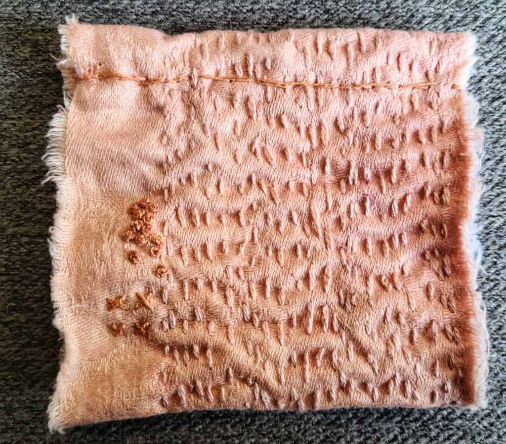 Slow stitching is a therapeutic handicraft that connects your breath with your creative work. Many Muslim homeschool moms would benefit from this.