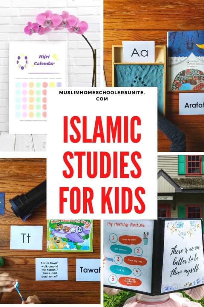 Islamic Studies printables, curriculum, books, and activities for Muslim homeschooled kids.